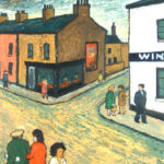 LOWNDES, Alan - Street Scene Cardiff Docks (1974)