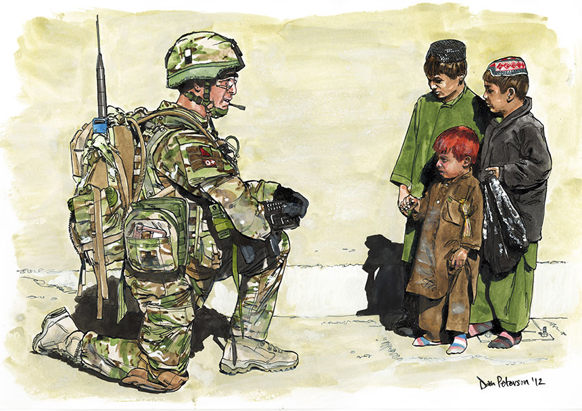 Dan Peterson – Artist – Front Line War Art and Reportage – 24th September 2019